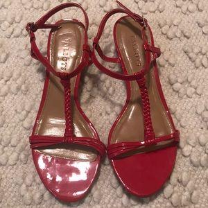Talbots Red Patent T-Strap Sandals